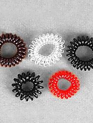 Недорогие -высокие эластичные резиновые ленты для волос случайные поставки