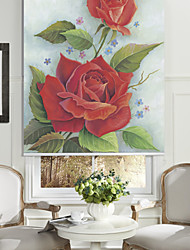 cheap -Country Graceful Blooming Rose Roller Shade