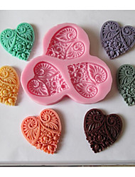 cheap -1pc Silicone Eco-friendly New Year's DIY For Cake For Cookie For Chocolate Mold Bakeware tools