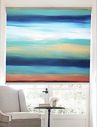cheap -Oil Painting Style Colored Abstract Forms Ⅲ linen Roller Shade