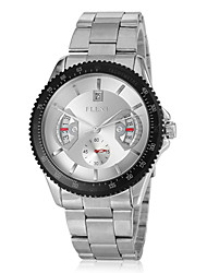 cheap -Men's Dress Watch Japanese Quartz Stainless Steel Silver Calendar / date / day Analog Black Silver