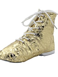 cheap -Women's Dance Shoes PU Jazz Shoes Boots / Split Sole Silver / Gold / EU43