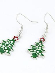cheap -Women's Drop Earrings Christmas Tree Ladies Fashion Earrings Jewelry For Christmas