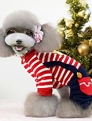 """Недорогие -""""Чувствовать себя так хорошо"""" печать полосы теплые комбинезоны для домашних собак assored цвета XXL"""