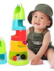 cheap -Caterpillars Rainbow Plastic Baby's Stack Bowls Blocks(Random Color)