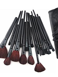 cheap -24PCS Makeup Brush with Free Leather Pouch - Professional and Perfect Style