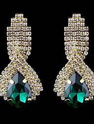 cheap -Women's Crystal Drop Earrings - Crystal White / Green / Blue For Wedding / Party / Daily