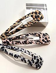 Недорогие -леопарда полые край клипа случайной доставки