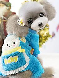 cheap -Dog Coat Dog Clothes Rose Blue Polar Fleece Costume For Winter Cosplay