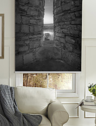 cheap -Monochrome Style Rock Wall Roller Shade