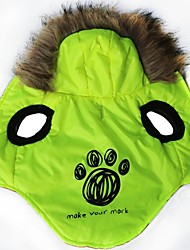 cheap -Cat Dog Hoodie Dog Clothes Cartoon Green Terylene Costume For Winter