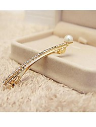 cheap -Korean Style New Pearl with Crystal Hair Clips Random Dlivery