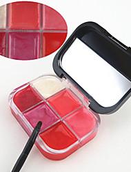 abordables -6 couleurs Gel Brillant à Lèvres Miroir à maquillage Humide / Lueur Humidité / Longue Durée / Naturel Maquillage Cosmétique Accessoires de Toilettage