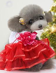 Недорогие -элегантной розы платье шаблон для домашних собак различных цветах XXL