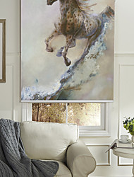 cheap -Oil Painting Style Horse Roller Shade