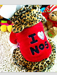 """cheap -""""I Love NO5"""" Printing Leopard Pattern Hoody Suit for Pet Dogs Assorted Colors Assorted Sizes"""
