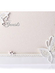 cheap -Guest Book Resin Garden Theme With Rhinestone