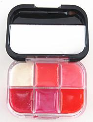 abordables -6 couleurs Gel Brillant à Lèvres Humide / Lueur Gloss coloré / Humidité Maquillage Cosmétique Accessoires de Toilettage