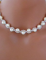 cheap -Beaded Necklace Rosary Chain Imitation Pearl White Necklace Jewelry For Wedding Party Daily Casual