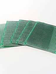 Недорогие -двухсторонний 2,54 шаг печатных плат 5 х 7 см печатную плату - зеленый (5шт)
