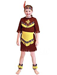 cheap -Primitive Cosplay Costume Kid's Halloween Festival / Holiday Polyester Carnival Costumes / Headpiece