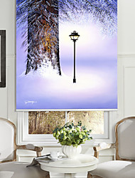 cheap -Oil Painting Style Realistic Tree Light Roller Shade