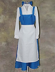 cheap -Beauty and The Beast Series Blue and White Maid Outfits