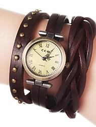 cheap -Women's Bracelet Watch Analog Quartz Flower / Quilted PU Leather