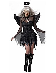 cheap -Angel / Devil Cosplay Costume Women's Halloween Festival / Holiday Polyester Women's Carnival Costumes / Headpiece / Wings