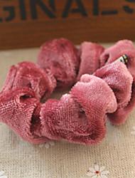 Недорогие -ткань художественных ленты для волос Pleuche волос веревки Головной убор цветок случайную поставку