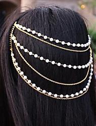 cheap -Women's Elegant Imitation Pearl Alloy Headbands Hair Charms Party Daily
