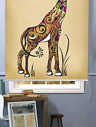 cheap -Modern Impressionistic Giraffe Roller Shade