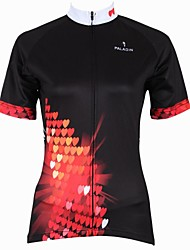 cheap -ILPALADINO Women's Short Sleeve Cycling Jersey Black Cartoon Plus Size Bike Jersey Top Mountain Bike MTB Road Bike Cycling Breathable Quick Dry Ultraviolet Resistant Sports Clothing Apparel