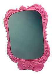 cheap -pink-comestic-mirror-with-rose-pattern
