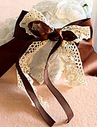Недорогие -мода двойной лентой большой бантом кружева barrets случайный цвет
