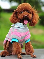 Недорогие -Синий/Розовый - Футболка - для Собаки - Хлопок