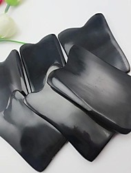 cheap -Natural  Buffalo Horn Guasha Tools Traditional Body Massage Tool Gua sha Scrape Therapy Length 7-8cm Width 3-4cm