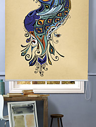 cheap -Modern Impressionistic peafowl Roller Shade