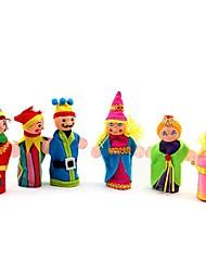 Недорогие -6шт семейные люди ткань пальца кукольные игрушки (случайным образом)