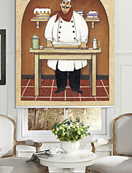 cheap -Oil Painting Style Cartoon Pastry Chef Roller Shade