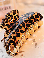 cheap -Extra Big Size Contracted Acrylic Leopard Hair Clips