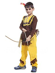 cheap -Primitive Cosplay Costume Kid's Halloween Festival / Holiday Polyester Carnival Costumes / Top / Headpiece