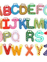 cheap -Colorful Cute 26 Letters Wooden Cartoon Fridge Magnet kid's Baby Educational Toy