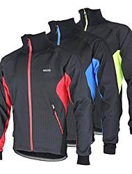 cheap -Arsuxeo Men's Cycling Jacket Bike Jacket Winter Fleece Jacket Top Thermal / Warm Windproof Fleece Lining Sports Polyester Spandex Fleece Winter Red / Blue / Light Green Mountain Bike MTB Road Bike