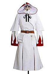 cheap -Inspired by Final Fantasy White Mage Video Game Cosplay Costumes Cosplay Suits Print Long Sleeve Dress Shawl Belt Costumes