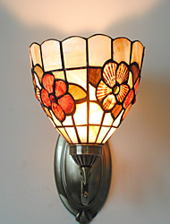 cheap -Antique Inspired Wall Light in Tiffany Style - Floral Patterned