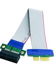 Недорогие -0,2 м 0.6ft PCI-E экспресс 1x слот расширения удлинитель Райзер лента гибкого переехать кабеля бесплатную доставку