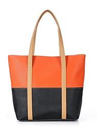cheap -Women's PU Leather Tote Leather Bags Black / Fuchsia / Blue
