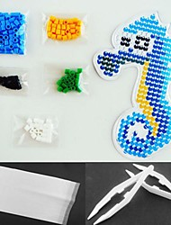 cheap -Sea Horse 5mm Perler Beads Kit Fuse Hama Beads(Suitable Color Beads Set+1 Pegboard+1 Ironing Paper+1 Tweezer)
