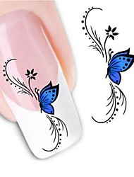 cheap -water transfer printing nail stickers xf1439